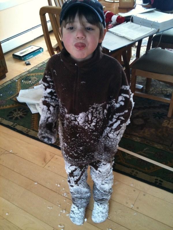 Ben in snow